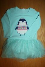 NWT Gymboree Enchanted Winter Size 3T Blue Penguin Tutu Dress