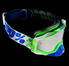 100% Gafas Cross Racecraft de Espejo Alchemy Mx Gafas Verde Azul Motocross