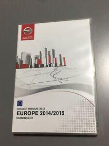 GENUINE NISSAN CONNECT PREMIUM X9.0 SAT NAV NAVIGATION DVD EUROPE UK MAP CD SET
