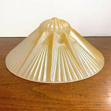 Vintage Art Deco Glass Three Hook Ceiling Light Lamp Shade Sun Rays