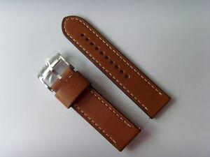 Fossil Original Spare Leather Strap JR1486 Watch Band Strap Braun Brown 24 MM