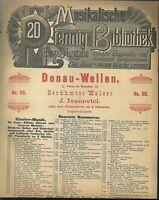 J. IVANOVICI, DONAU-WELLEN Walzer,  übergroße, alte Noten