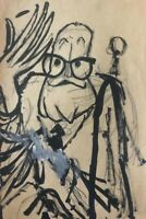 Cartoon by Juan David. (Alejo Carpentier). No signature. Cuban Art