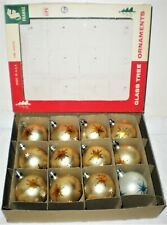 12 Vintage Glass Fantasia Christmas Ornaments Hand Painted Poland Franke Box