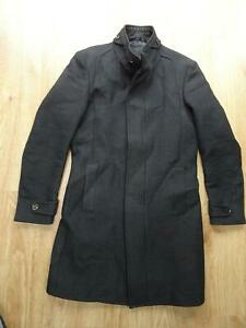 ZARA black tag mens dark grey smart jacket coat MEDIUM EXCELLENT
