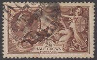 GB KGV 2s.6d. Chocolate-Brown SG450 2/6 SEAHORSES George V 1934 Very Good Used
