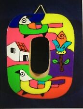 La Palma Folk Art from El Salvador Letter O Handcrafted on Recycled Wood