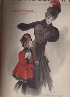 The Housewife Magazine December 1907 George Blake Woman Cover