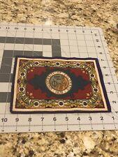 "Antique Tobacco Felt Flannel 5X8"" University of Colorado rug Good Original Cond"