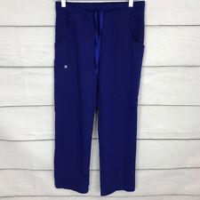 Figs Kade Cargo Scrub Pants Blue Size Xs Petite Pockets Drawstring Womens