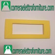 LEGRAND VELA placca quadra giallo sole 6 moduli 685663