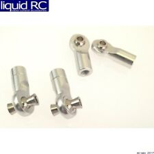 Hot Racing RVO160HBN08 Silver 7075 Aluminum Turnbuckle Ends (4)