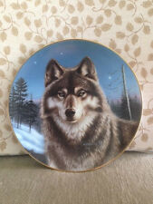 Portraits Of The Wild Winter Solitude Hamilton Collection Wolf Plate