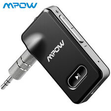 Mpow Bluetooth 5.0 Receiver 3.5mm Aux Jack Stereo Music Audio Adapter In Car Kit