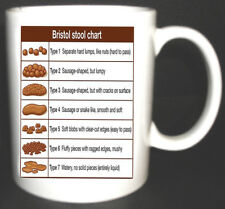 Bristol Stool Chart mug  for nurses medical student HCA carer Novelty gift new