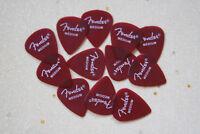 Fender California Clear Candy Apple Red Medium Gauge Guitar Picks, 12 Pack