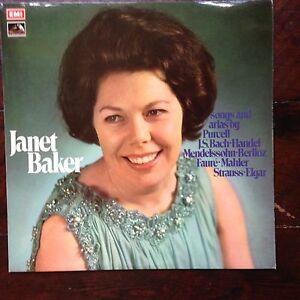 Janet Baker Songs & Arias By Handel Elgar Strauss Etc 1968 HMV seom 8