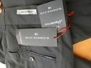 Marks & Spencer- blue Harbour superlightweight chino Trousers.cool comfort 34 L