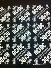 AC/DC vintage Bandana 2001 Stiff Upper Lip Tour / Back In Black Mint New