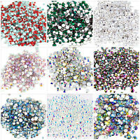 400pcs Small Sizes mixed Glass Rhinestones ss4 - ss12 Clear Iridescent Nail Art