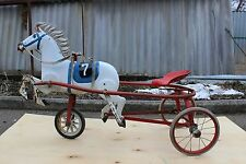 Antique Metal Pedal Car. Russian Soviet - USSR very rare old horse pedals
