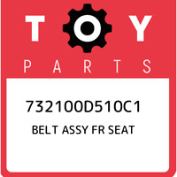732100D510C1 Toyota Belt assy fr seat 732100D510C1, New Genuine OEM Part