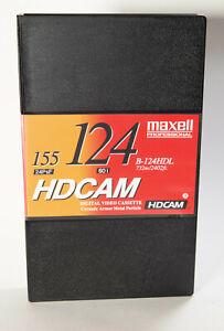 Maxell B-124HDL 124 Minute HDCAM Videotape, Large, 732m Tape Length