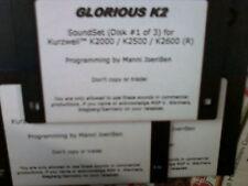 KURZWEIL ~ GLORIOUS K2 ~ VAST PROGRAMS ~ 3 DISK SET!