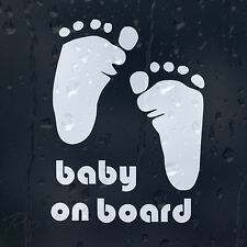 Foot Print Baby On Board Car Or Laptop Decal Vinyl Sticker For Window Bumper