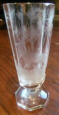 Antique Bohemian Engraved Glass Goblet