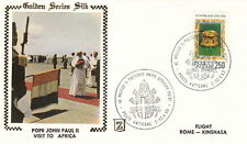 1980 POPE JOHN PAUL II ROME AFRICA FLIGHT POSTAL COVER