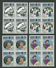 Pitcairn Islands 1985 Life & Times of the Queen Mother set 4 In Blocks 4 MUH