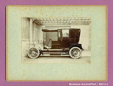 PHOTO ORIGINALE SUR CARTON, VIEILLE VOITURE 1900 À IDENTIFIER , OLD CAR  -L11