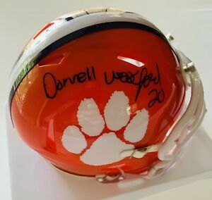 Donnell Woolford 1985-1988 Clemson Tigers Autographed Mini Helmet COA Proof