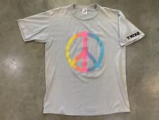 Peace Sign Shirt Hippie Tie Dye Neon Usa Puffy Paint Motorcycle Tryke L 90s Vtg