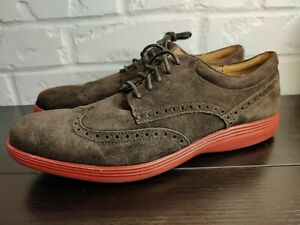 Cole Haan Grand OS C23820 Mens Sz 11 NEW Dress Casual Shoes Brown Wingtip Suede