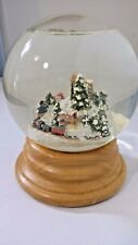 "Winter Scene Large Snow Globe, Music "" Silent Night"""