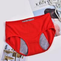 Women Menstrual Sanitary Period Leak Proof Briefs Panties High Waisted Unde Y6L0