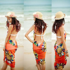 Women Summer Bathing Suit Bikini Swimwear Cover Up Beach Dress Sarong Wrap Pareo