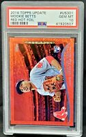 2014 Topps Update Dodger MOOKIE BETTS Rookie RED FOIL Card PSA 10 GEM MINT Pop58