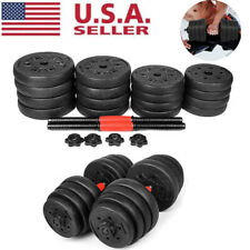 Up to 66 LB Weight Dumbbell Set Gym Barbell Plates Body Workout Adjustable Empty
