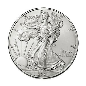 2021 $1 American Silver Eagle coin 1 oz Uncirculated