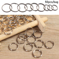 Steel Alloy Key Hooks Keychain Ring Pendant Gadget Keyring Circle Loop