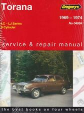 NEW GREGORYS WORKSHOP REPAIR MANUAL HOLDEN TORANA LC LJ 1969-1976
