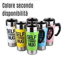 Tazza self mixing cup in alluminio automescolante miscela caffè latte the ciok