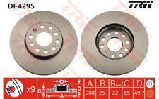 TRW Juego de 2 discos freno Antes 288mm ventilado SEAT RENAULT SC?NIC DF4295