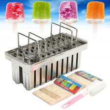 20Pcs Stainless Steel Molds Frozen Ice Cream Pop Popsicle Holder Maker +Sticks