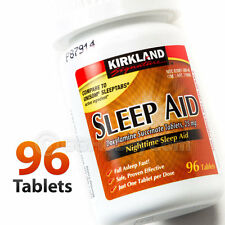 Kirkland Nighttime Sleep Aid 96 Pills Tablets Bottle Doxylamine Succinate 25mg