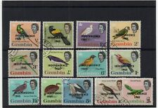 !!! GAMBIA BIRDS SET YT # 186/198 USED