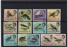 !!! GAMBIA BIRDS SET YT # 186/198 USED